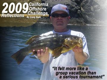 Craig Bark with Island Calico Bass!
