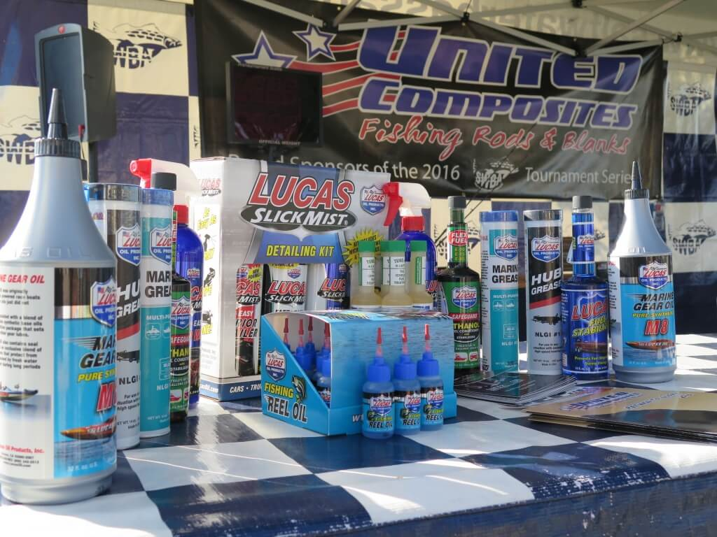 Lucas Marine Products on display at the United Composites event.